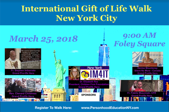 NYC International Gift of Life Walk – March 25th